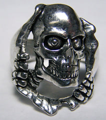 TEARING THUR HOLE SKELETON BIKER RING  (Sold by the piece) *