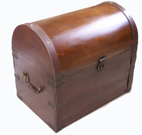 ... LARGE WOODEN TREASURE / PIRATE CHEST STORAGE BOX #301 ( Sold By The  Piece ) ...