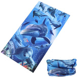 DOLPHIN MULTI FUNCTION SEAMLESS BANDANA WRAP ( sold by the piece or dozen )
