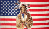 AMERICAN INDIAN FACE 3' X 5' FLAG (Sold by the piece) *- CLOSEOUT NOW $1.95 EACH - WHILE SUPPLIES LAST
