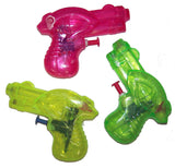 MEDIUM 4 INCH WATER GUNS (Sold by the dozen) *- CLOSEOUT NOW ONLY 25 CENTS EA
