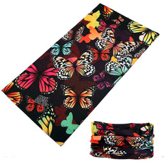 BUTTERFLY MULTI FUNCTION SEAMLESS BANDANA WRAP ( sold by the piece or dozen )