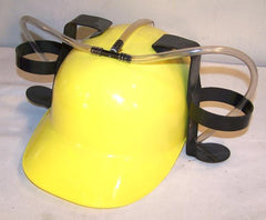 YELLOW COLOR DRINKING HAT WITH TWIN CUP HOLDER (Sold by the piece) * CLOSEOUT NOW $ 3.50 EA