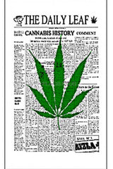 NEWS PAPER DAILEY MARIJUANA POT LEAF 3' X 5' FLAG (Sold by the piece)