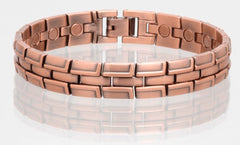 SOLID COPPER MAGNETIC LINK BRACELET style #LBR (sold by the piece )