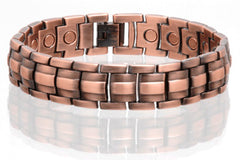 SOLID COPPER MAGNETIC LINK BRACELET style #LE (sold by the piece )
