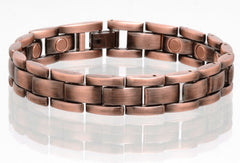 SOLID COPPER MAGNETIC LINK BRACELET style #LH (sold by the piece )