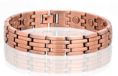 SOLID COPPER MAGNETIC LINK BRACELET style #LK (sold by the piece )