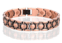 SOLID COPPER MAGNETIC LINK BRACELET style #LO (sold by the piece )