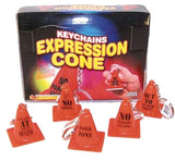 EXPRESSION TRAFFIC CONES KEY CHAINS (Sold by the dozen) *- CLOSEOUT NOW 25 CENTS EACH