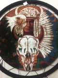 WARRIOR EAGLE COW SKULL JUMBO WAR SHIELD (Sold by the piece)-* CLOSEOUT NOW ONLY 7.50 EA