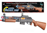 SPECIAL FORCES LIGHT UP TOY MACHINE GUN WITH LASER ( sold by the piece )