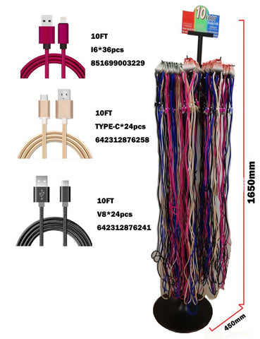 half off 2706e d1de2 LONG 10 FOOT IPHONE 5,6,7, CHARGER CORD ( sold by the piece )