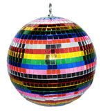 12 INCH RAINBOW MIRROR  REFLECTION DISCO BALL (Sold by the piece)