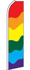 SUPER SWOOPER 15 FT RAINBOW GAY PRIDE FLAG  (Sold by the piece)