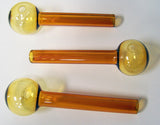 AMBER COLOR 4 INCH BUBBLE ROSE (Sold by the piece or dozen ) *- CLOSEOUT $ 1.50 EACH
