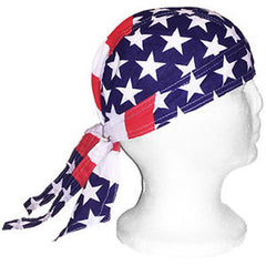 AMERICAN FLAG BANDANNA CAP (Sold by the dozen)