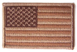 AMERICAN FLAG BROWN left arm 3 INCH EMBROIDERED PATCH ( sold by the piece )