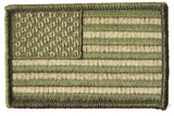 AMERICAN FLAG GREEN CAMOUFLAGE left arm 3 INCH EMBROIDERED PATCH ( sold by the piece )