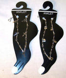 ASSORTTED DESIGNS LADIES SILVER CHAIN ANKLETS ( sold by the dozen ) CLOSEOUT NOW ONLY .25 CENTS EA