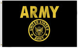US ARMY GOLD military 3' X 5' FLAG (Sold by the piece)