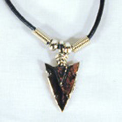 METAL ARROW HEAD ROPE NECKLACES (Sold by the dozen)