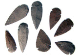 HICKORYITE STONE LARGE 2 TO 3 INCH ARROWHEADS ( sold by the dozen OR bag of 100 pieces )