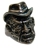 FREDDY MONSTER W HAT STAINLESS STEEL BIKER RING ( sold by the piece )