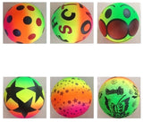 RAINBOW 9 INCH ASSORTED NOVELTY BALLS  (Sold by the dozen)