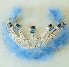 ASSORTED COLOR  FEATHER TIARA CROWNS (Sold by the dozen) CLOSEOUT NOW $ 1 EA