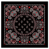 DELUXE SUGAR SKULL CATS BANDANA (Sold by the piece or dozen)
