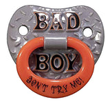 BAD BOY TODDLER PACIFIER ( sold by  the piece ) * CLOSEOUT NOW $1.50 EA
