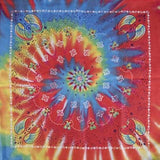 TIE DYED PAISLEY PRINTED BANDANA ( sold by the piece or dozen ) BANDANNA