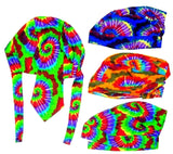 ASSORTED COLOR SWIRL TYE DYED BANDANA CAP / HAT  (Sold by the dozen) -* CLOSEOUT NOW ONLY $1.50 EA