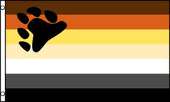 BEAR PAW RAINBOW PRIDE  3 X 5 FLAG ( sold by the piece )