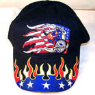 AMERICAN FLAG WITH BIKE BASEBALL HAT (Sold by the piece) -* CLOSEOUT $1.95 EA