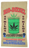 BIO DIESEL MARIJUANA BURLAP BAG ( sold by the piece )