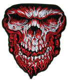 JUMBO BLOOD SKULL FACE PATCH 11 INCH (Sold by the piece)