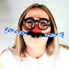 BLOW OUT FUNNY FACE MASK (Sold by the dozen) -* CLOSEOUT NOW 10 CENTS EA