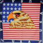 USA EAGLE HEAD WITH FLAG BANDANA (Sold by the piece or dozen)