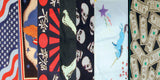 ASSORTED NOVELTY & BIKER PRINTED BANDANAS (sold by the dozen) CLOSEOUT 50 CENTS EA