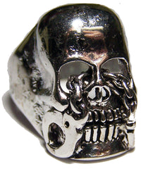 SKULL HEAD W HANDCUFF EYES BIKER RING  (Sold by the piece) *