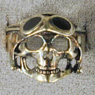 SKULL WITH HELMET BIKER RING (Sold by the piece) *
