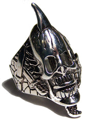 SPIKED SKULL HEAD BIKER RING  (Sold by the piece) *