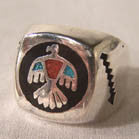 NATIVE STYLE PHOENIX BIRD BIKER RING (Sold by the piece)
