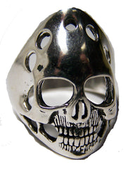 SMILING GHOST HEAD SKULL BIKER RING (Sold by the piece)
