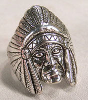 CHIEF HEAD BIKER RING (Sold by the piece) *