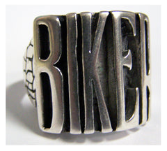 WORD BIKER B I K E R BIKER RING  (Sold by the piece) *-  CLOSEOUT AS LOW AS $ 3.95 EA
