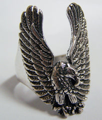 FLYING EAGLE WINGS UP BIKER RING  (Sold by the piece)