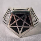 PENTAGRAM BIKER RING (Sold by the piece)